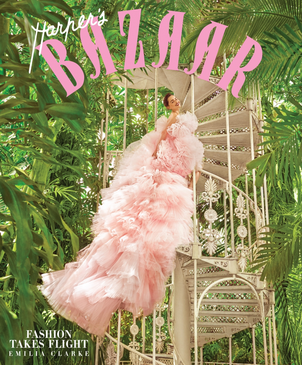 Emilia Clarke by Mariano Vivanco for Harper's Bazaar, December 2017
