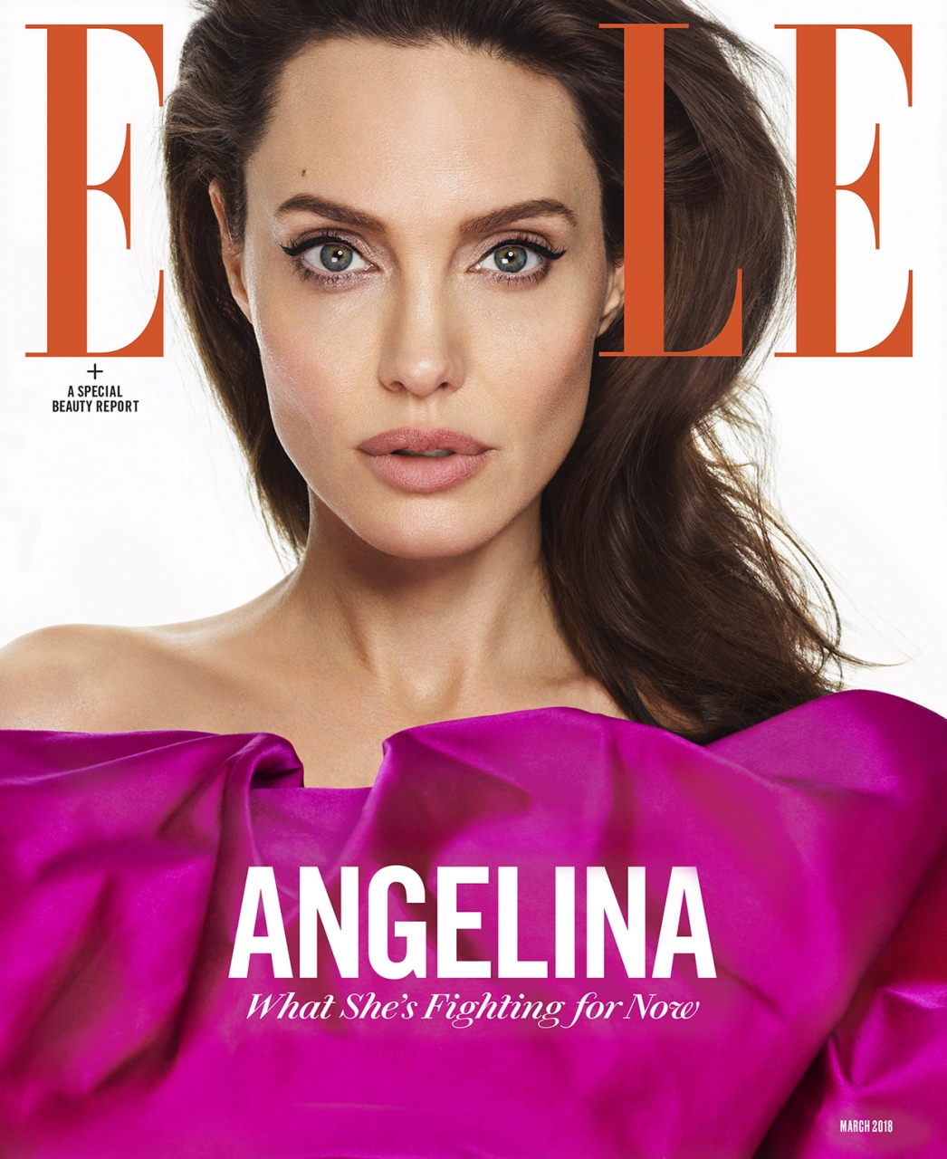 Angelina Jolie by Mariano Vivanco for ELLE March 2018
