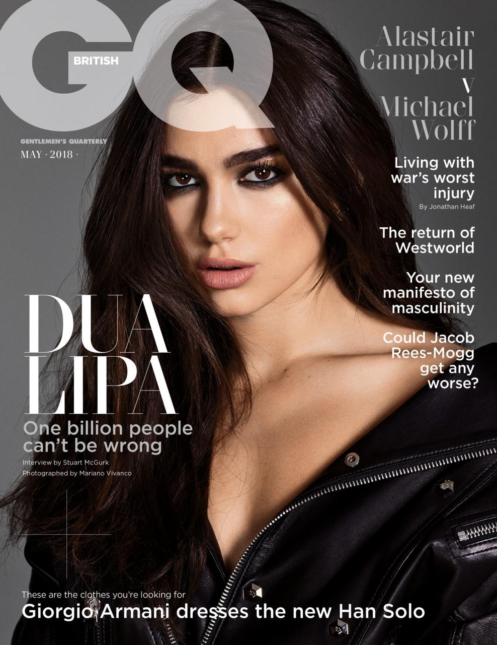 Dua Lipa by Mariano Vivanco for British GQ, May 2018